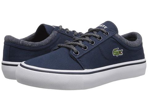 Lacoste - Vaultstar WW FA14 (Little Kid/Big Kid) (Dark Blue/Dark Blue) Lace up casual Shoes