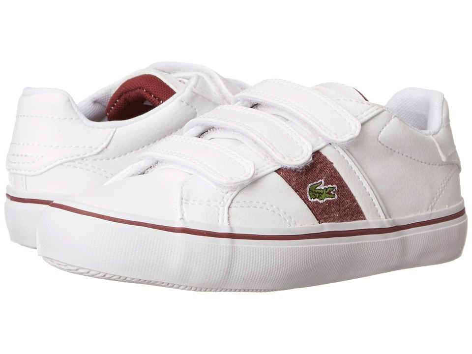 Lacoste Kids - Fairlead WW FA14 (Little Kid) (White/Dark Red) Kid