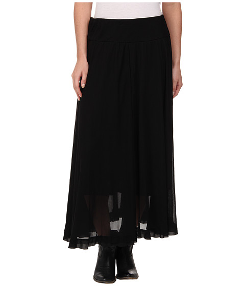 Roper - 9395 Solid Mesh Knit Shirt (Black) Women's Skirt