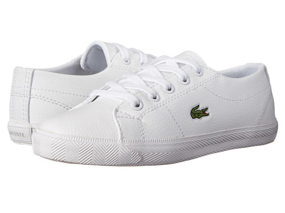 Lacoste - Marcel GT2 FA14 (Little Kid) (White/White) Shoes