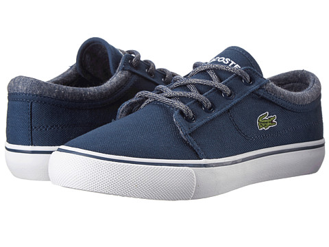 Lacoste - Vaultstar WW FA14 (Little Kid) (Dark Blue/Dark Blue) Lace up casual Shoes