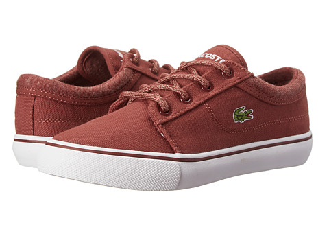 Lacoste Kids - Vaultstar WW FA14 (Little Kid) (Dark Red/Dark Red) Kids Shoes