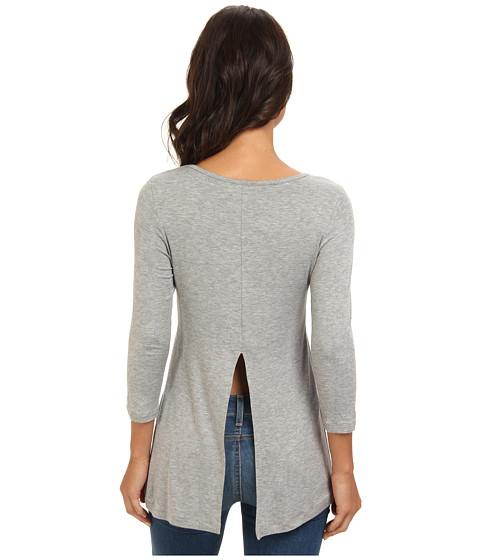 BCBGeneration - L/S Round Neck Top ONN1S975 (Heather Grey) Women's T Shirt