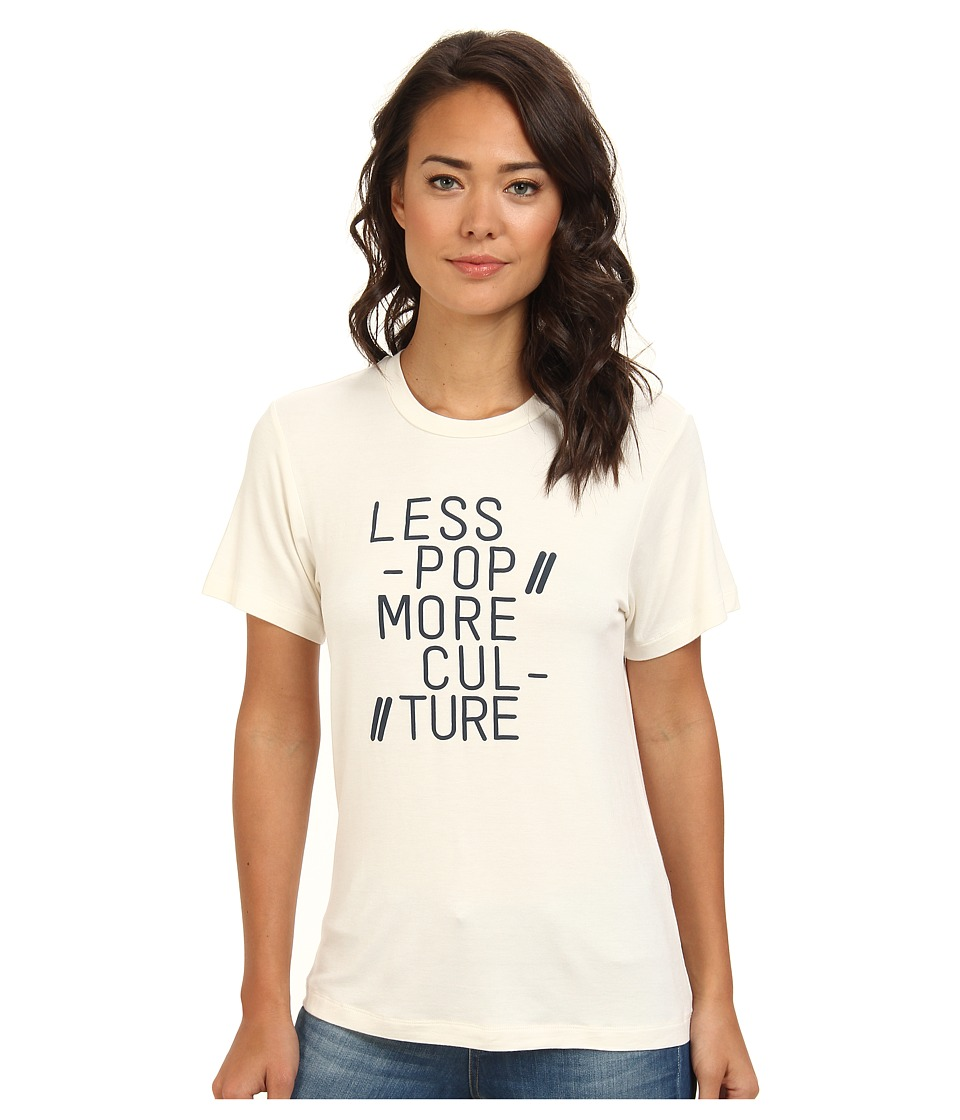 BCBGeneration - S/S Round Neck Top KRK1S720 (Whisper White) Women's T Shirt