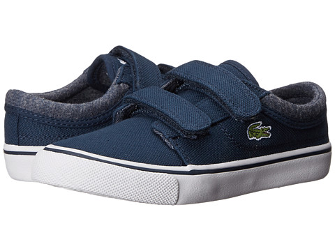 Lacoste Kids - Vaultstar S WW FA14 (Toddler/Little Kid) (Dark Blue/Dark Blue) Kids Shoes