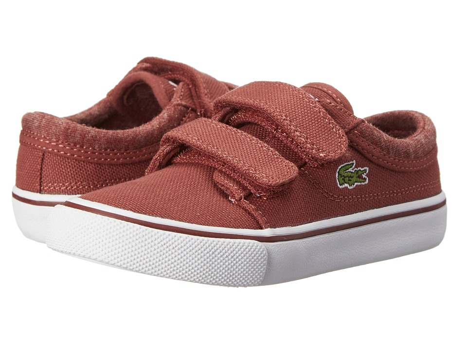 Lacoste Kids - Vaultstar S WW FA14 (Toddler/Little Kid) (Dark Red/Dark Red) Kids Shoes