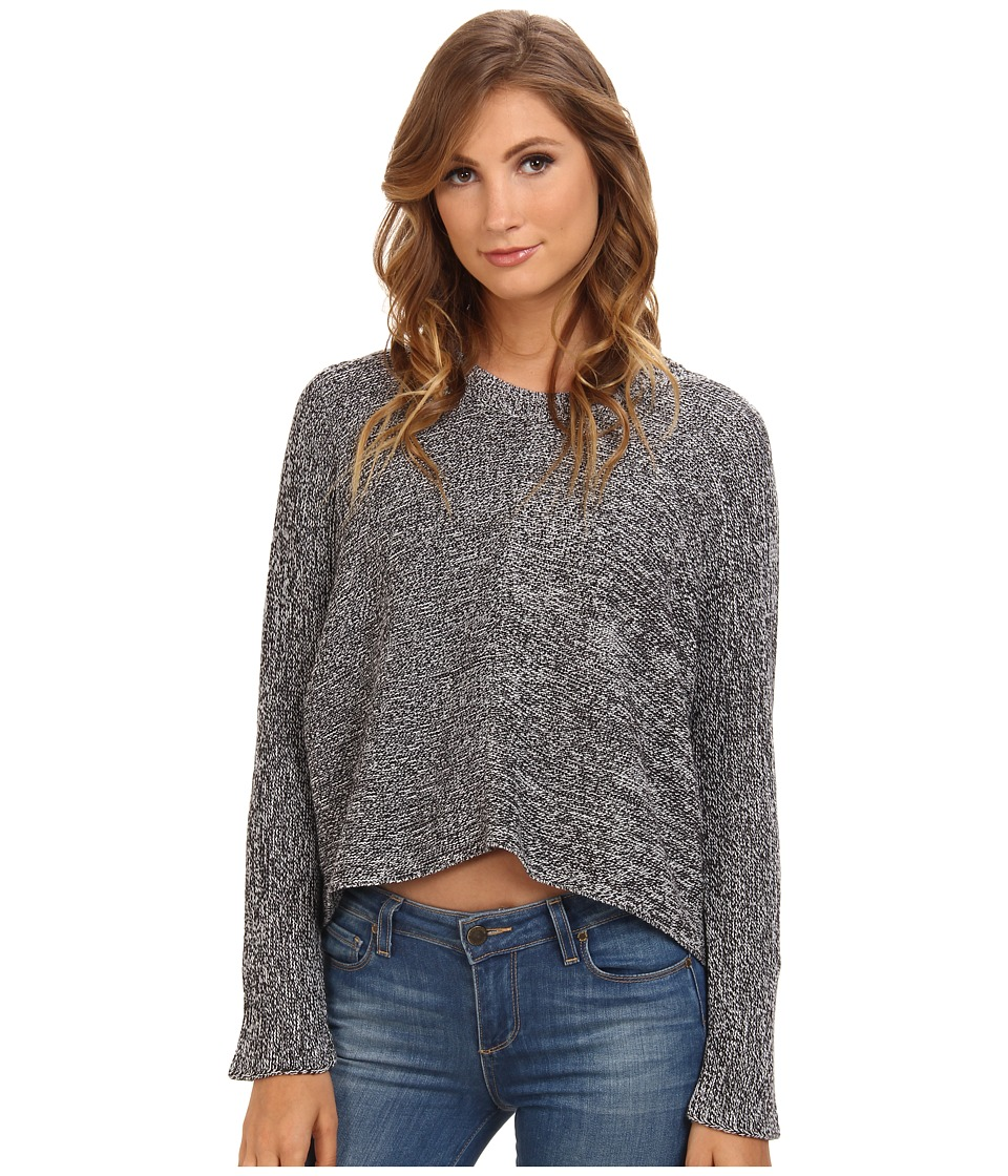 BCBGeneration - L/S Round Neck Sweater Top CPB1S525 (Marled Charcoal) Women's Sweater