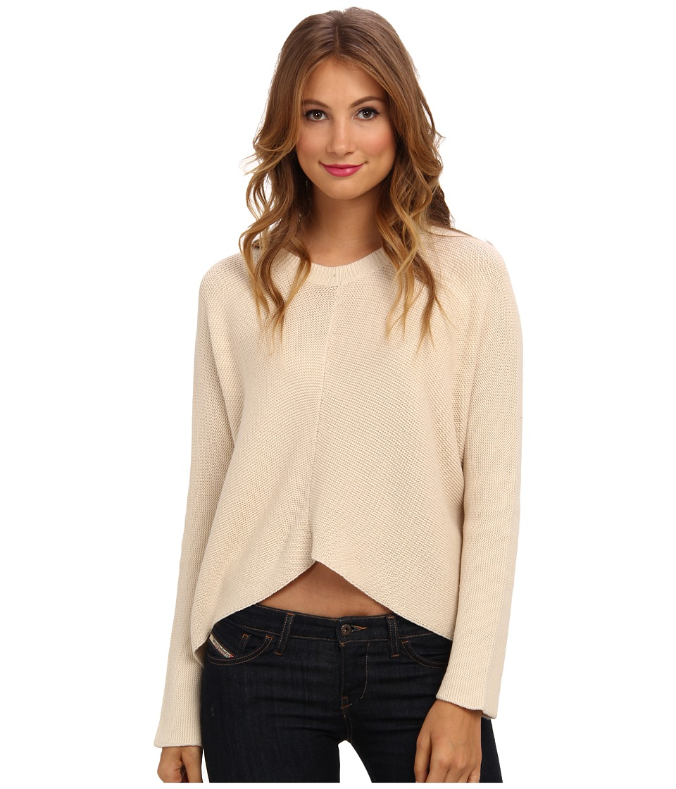 BCBGeneration - L/S Round Neck Sweater Top CPB1S525 (Nude) Women's Sweater