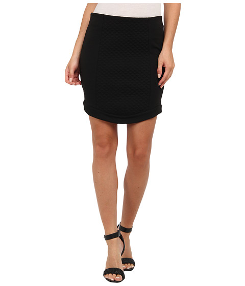 BCBGeneration - Curved Hem Skirt XGN3E960 (Black) Women's Skirt