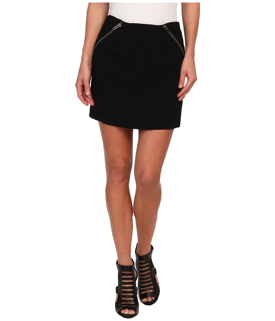 BCBGeneration - Zipper Detail Mini Skirt GEF3E977 (Black) Women