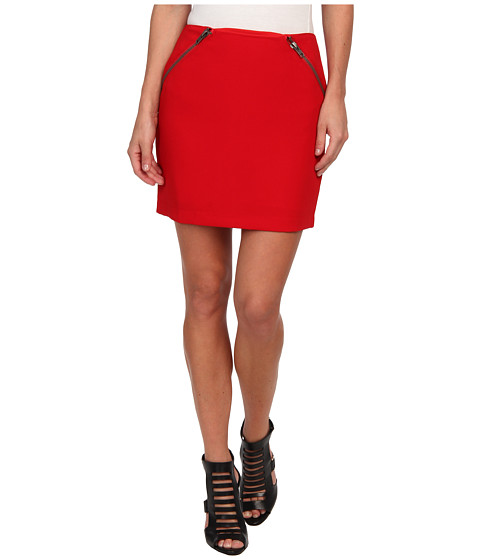 BCBGeneration - Zipper Detail Mini Skirt GEF3E977 (Vermillion) Women's Skirt