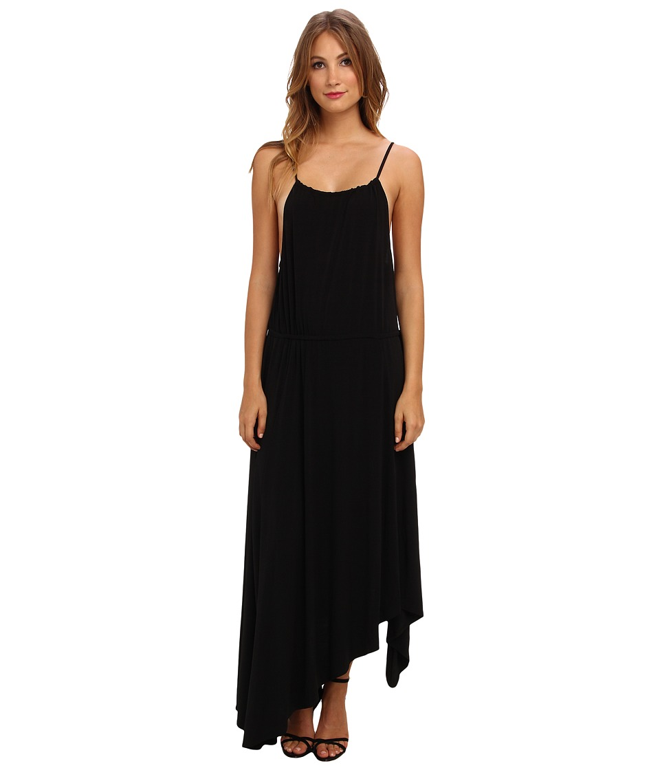 BCBGeneration Sleeveless Long Asym Cocktail Dress YDM60C35 (Black) Women