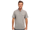 Seven7 Jeans - S/S Button Down Polo (Grey Heather) - Apparel