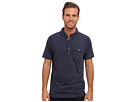 Seven7 Jeans - S/S Button Down Polo (Marine Heather) - Apparel
