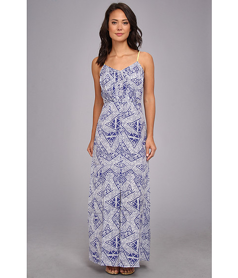 Dolce Vita - Stila Block Print Maxi (Blue Print) Women's Dress