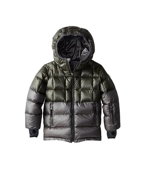 Dolce & Gabbana - Colorblock Nylon Ski Jacket (Toddler/Little Kids) (Blue/Grey) Men's Coat