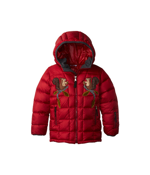 Dolce & Gabbana - Embroidered Nylon Ski Jacket (Toddler/Little Kids) (Dark Red) Women's Coat