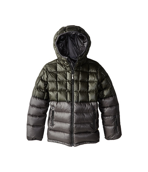 Dolce & Gabbana - Colorblock Nylon Ski Jacket (Big Kids) (Blue/Grey) Men's Coat