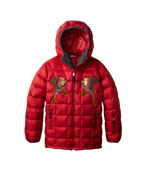 Dolce & Gabbana - Embroidered Nylon Ski Jacket (Big Kids) (Dark Red) Women's Coat
