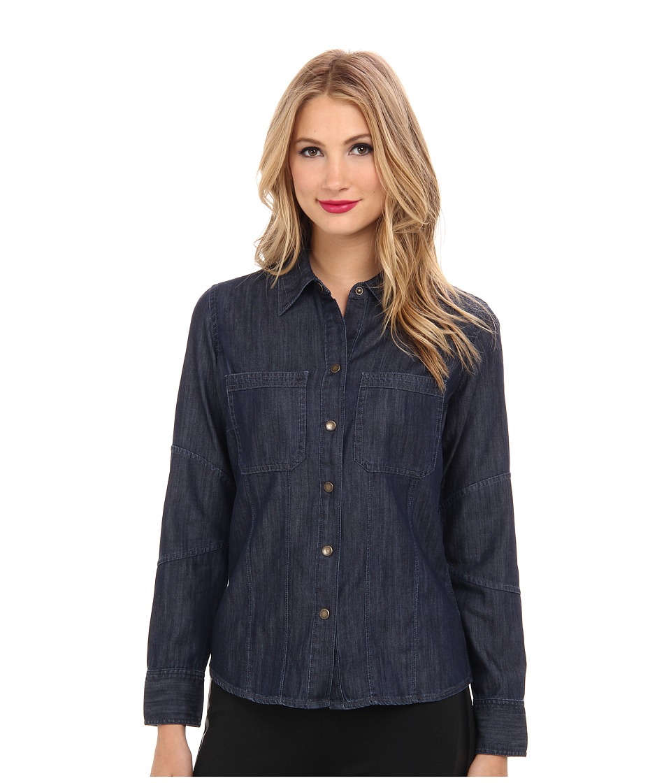 DL1961 - Jenny Fitted Denim Shirt (Skipper) Women's Long Sleeve Button Up