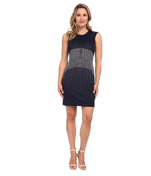 Karen Kane - Galaxy Print Scuba Dress (Navy) Women