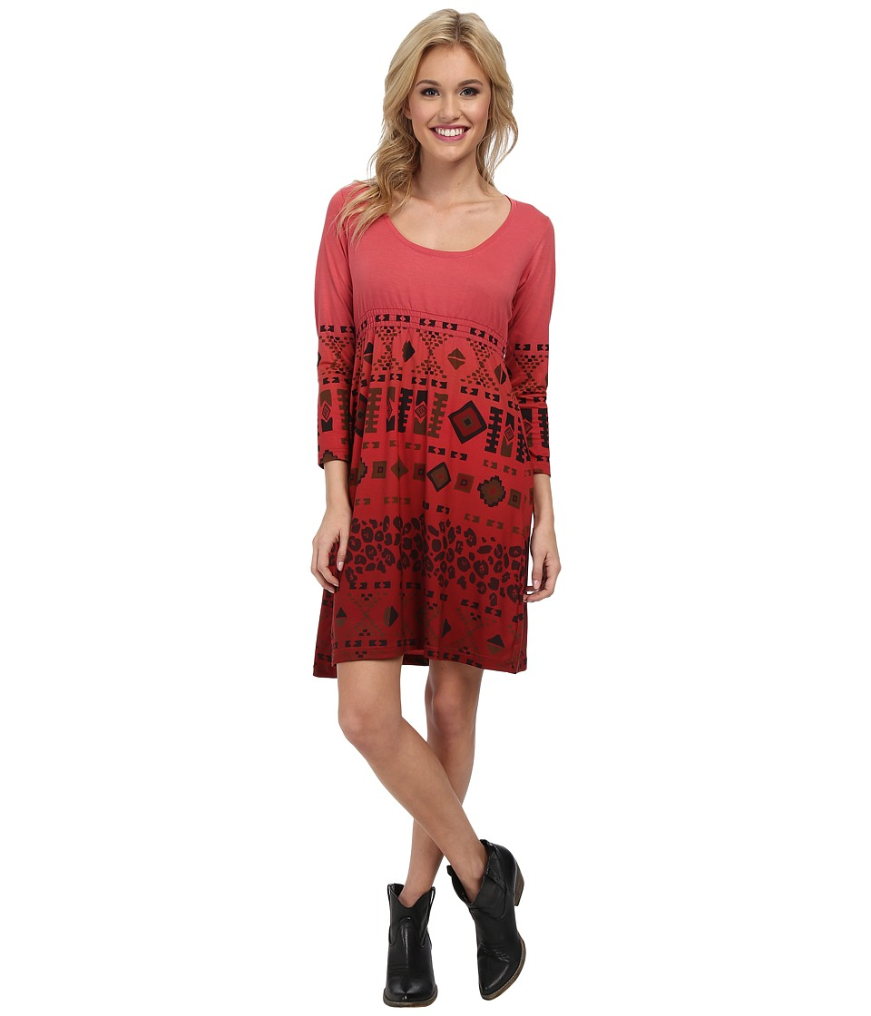 Roper - 9380 Poly Spandex Jersey Dress (Red) Women's Dress