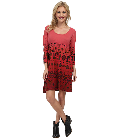 Roper - 9380 Poly Spandex Jersey Dress (Red) Women