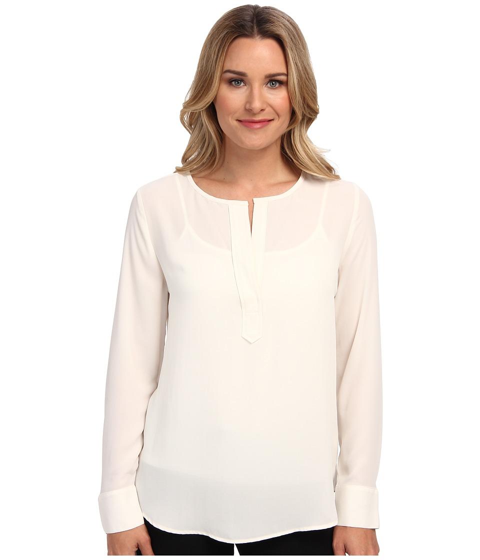 Karen Kane - Split Placket Blouse (Cream) Women's Blouse plus size,  plus size fashion plus size appare