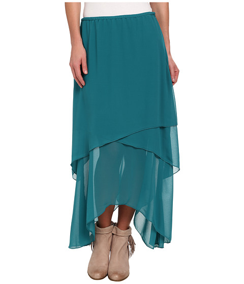 Roper - 9391 Layered Georgette Skirt (Green) Women's Skirt