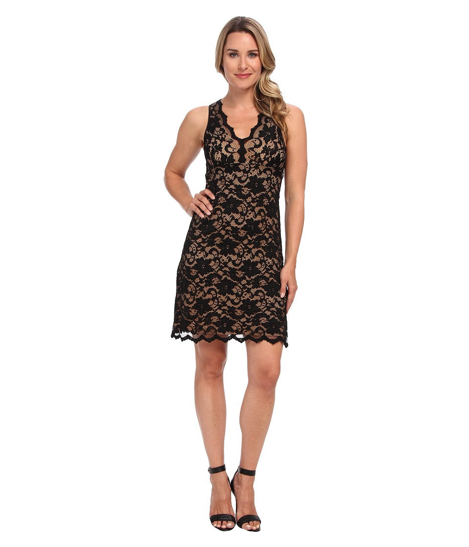 Karen Kane - V-Neck Sleeveless Lace Dress (Black) Women
