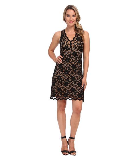 Karen Kane - V-Neck Sleeveless Lace Dress (Black) Women