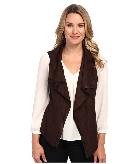 Karen Kane - Faux Suede Vest (Brown) Women