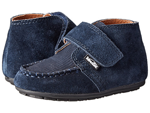 Venettini Kids - 55-Bruno (Toddler) (Navy Suede/Navy Corduroy Leather) Boy's Shoes