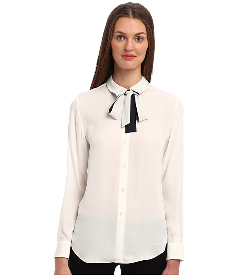Theory - Emmanuelle Top (Ivory) Women's Blouse