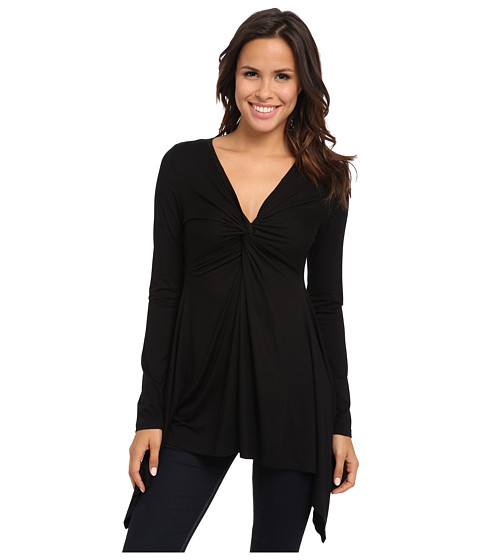 Karen Kane - Twist Front Top (Black 1) Women's Clothing