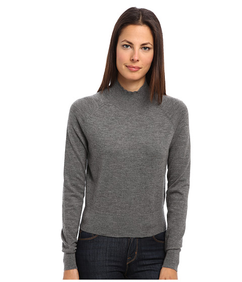 Theory - Alira Top (Grey Melange) Women's Clothing