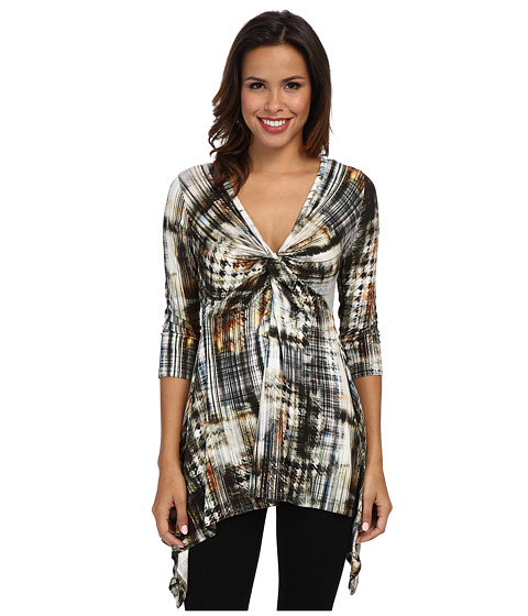 Karen Kane - Twist Front Handkerchief Top (Print) Women's T Shirt