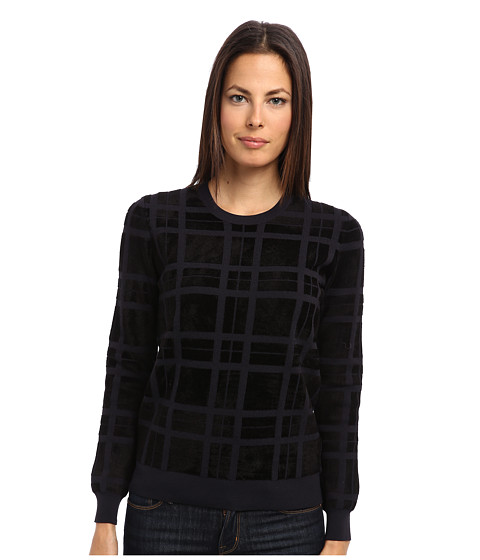 Theory - Jaidyn PL Top (Black) Women's Sweater