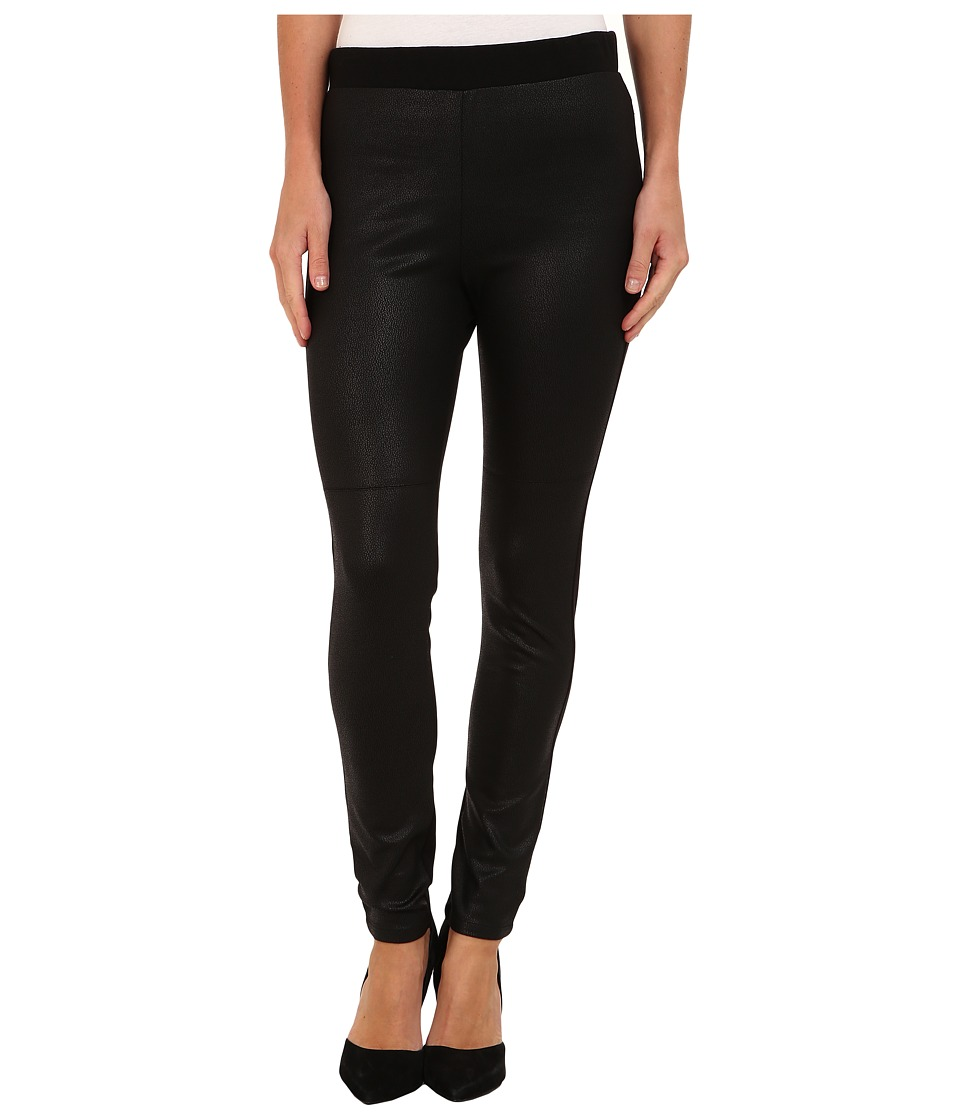 Karen Kane - Faux Leather Panel Legging (Black) Women's Casual Pants