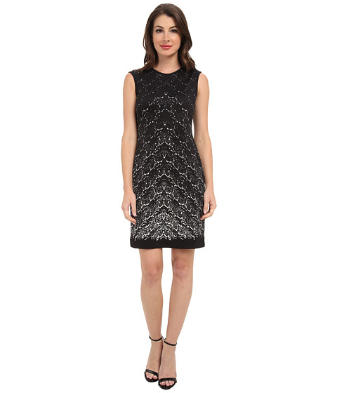Karen Kane - Printed Lace Scuba Dress (Print) Women's Dress
