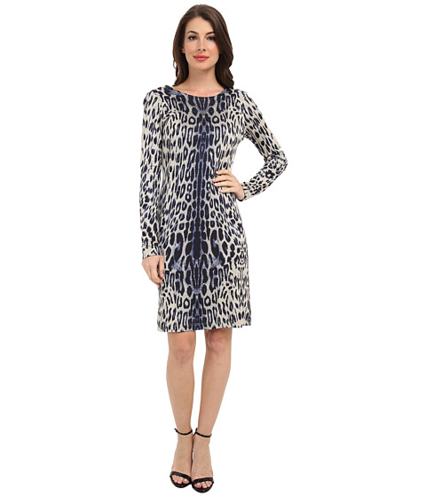 Karen Kane - Leopard Print Textured Dress (FRB) Women