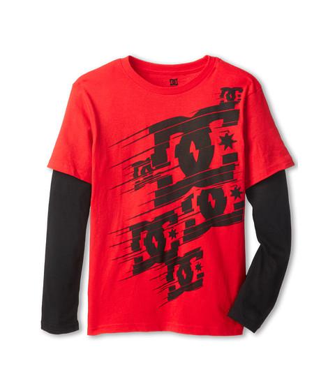 DC Kids - Hustle Slider Tee (Big Kids) (Formula One) Boy's T Shirt