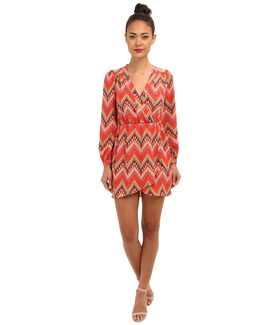 Brigitte Bailey - Demri Dress (Coral Aztec Multi) Women's Dress