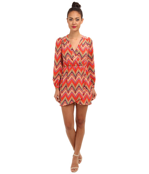 Brigitte Bailey - Demri Dress (Coral Aztec Multi) Women