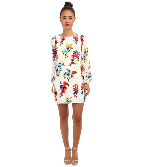 Brigitte Bailey - Skyler Shift Dress (Ivory Flower Print) Women's Dress