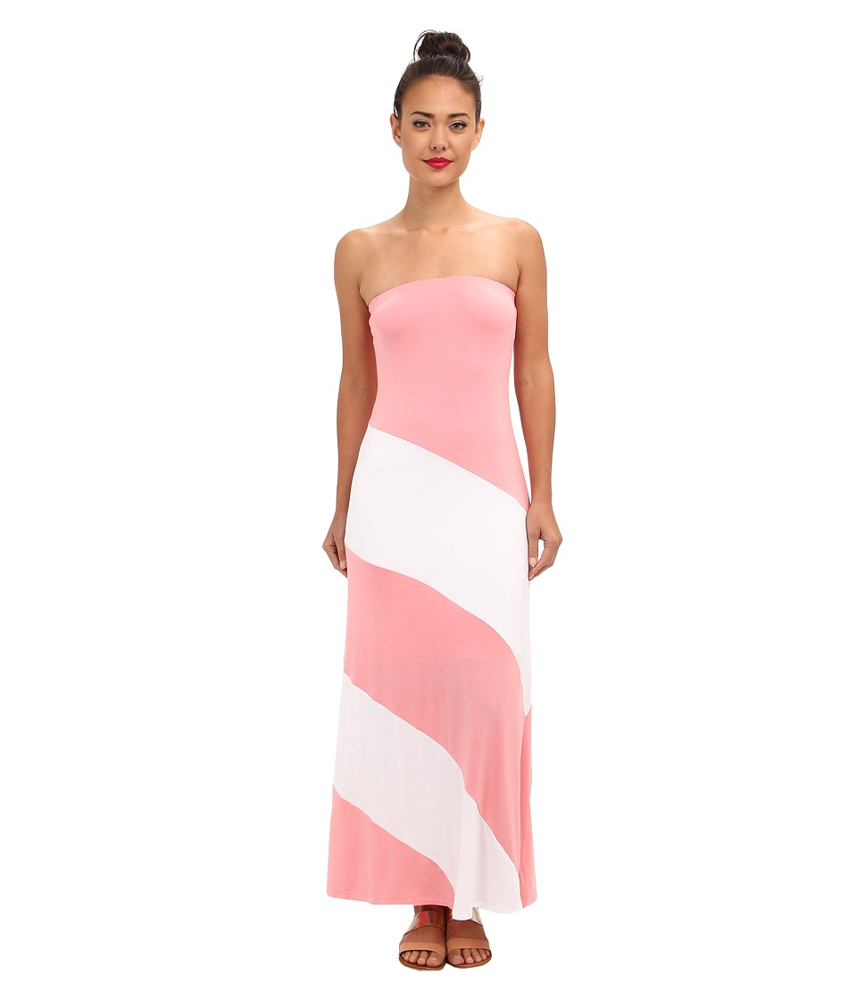 Culture Phit - Fannette Stripe Maxi Dress (Coral/White) Women