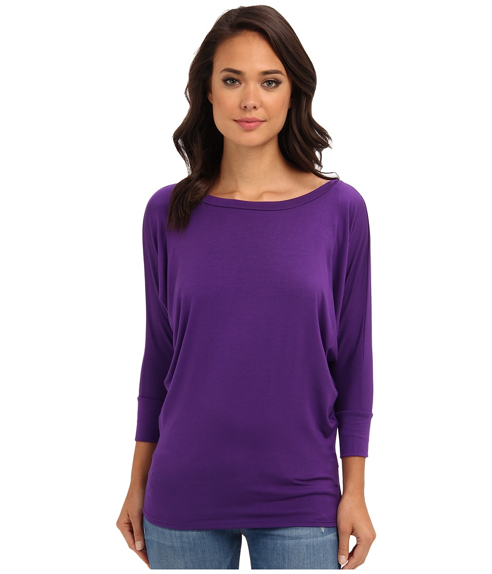 Culture Phit - Lara Modal Top (Eggplant) Women's T Shirt