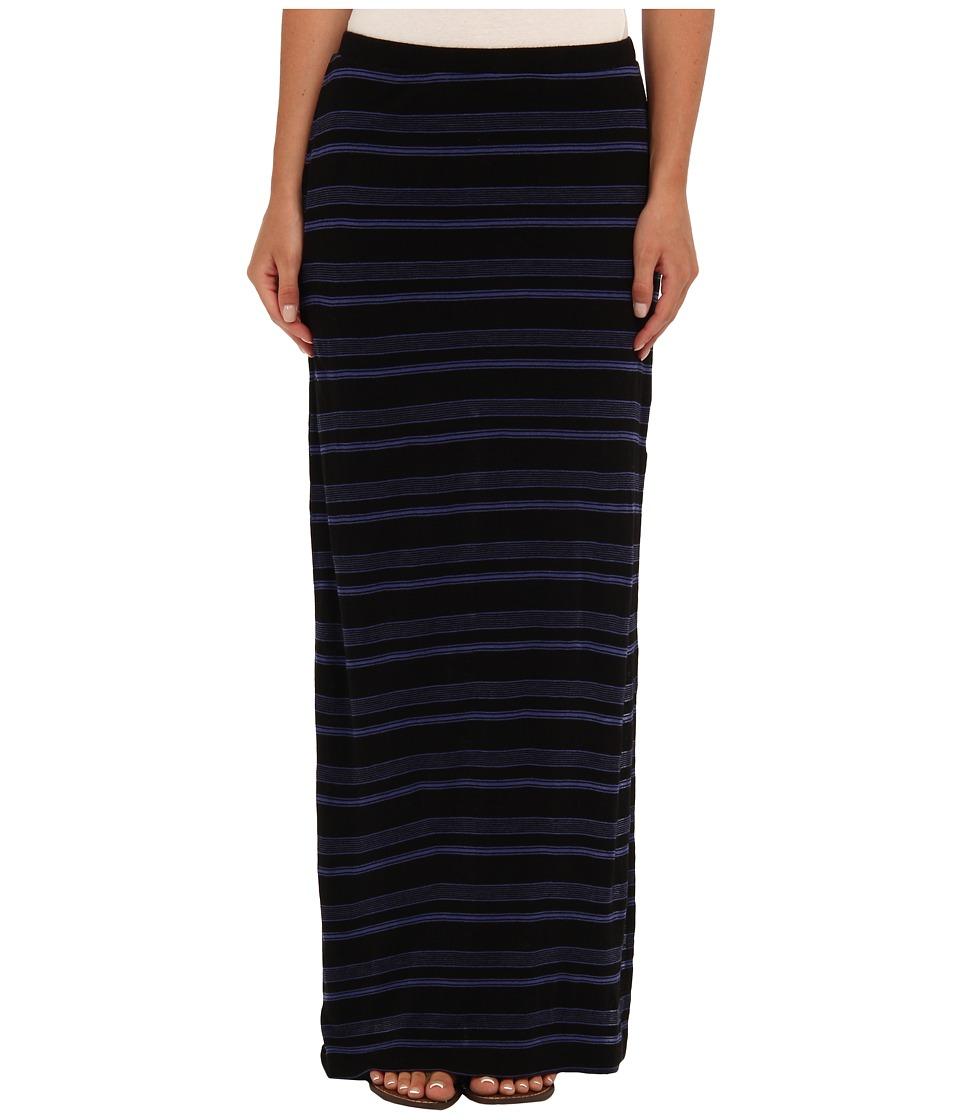 Splendid - Blue Ridge Stripe Maxi Skirt (Black) Women