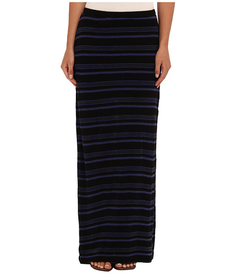 Splendid - Blue Ridge Stripe Maxi Skirt (Black) Women's Skirt