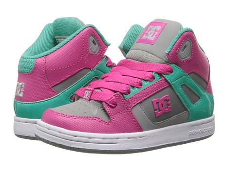 DC Kids - Rebound (Little Kid/Big Kid) (Pink/Dark Grey) Girls Shoes